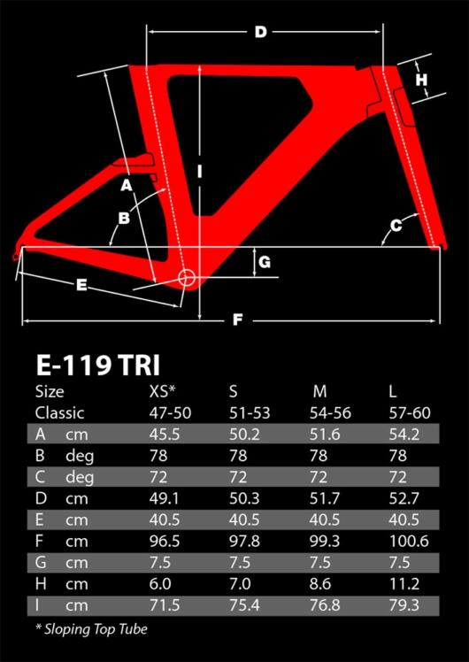 Argon 18 E-119 Ultegra TT/ Tri Bike