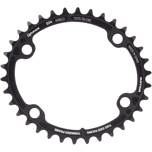 Rotor ALDHU and Shimano 9100/8000 Q Inner Chainring 110BCD